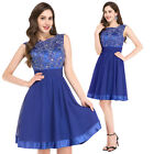 Sexy Lace Wedding Bridesmaid Party Prom Gown Short/Mini Evening Cocktail Dresses