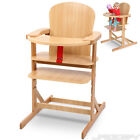Wooden High Chair Baby Toddler Feeding Seat with Tray and Belt Choice of Colour <br/> ca. 57.5/102/76 cm ✔ stable ✔ pine wood ✔