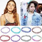 Big Sale Retro Vintage Tattoo Choker Stretch Necklace Elastic Colorful Cheap Hot