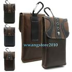 Retro Genuine Leather Pocket Belt Holster Case Outdorr Bag Cover For Cell Phone
