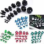 2pcs Acrylic Plugs Double Flare O-Ring Ear Stretcher Punk  Pick Color 1.6-12mm