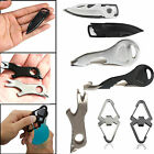NE EDC Multi Tool Stainless Steel Carabiner Keychain Bottle Opener Pocket Mini