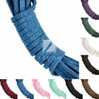 10pcs Korean Suede Cord Soft Perfect Woven Thong Jewellery Making 1.7x2.6mm