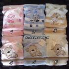 BABY BOY GIRL SUPER SOFT BLANKET WRAP-6 GORGEOUS COLOURS-BEAUTIFUL GIFT-NEW