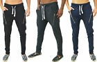 Mens Designer Super Skinny Slim Fit Stretch Joggers Bottoms Pants Casual Trouser
