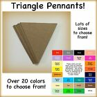 Pennant triangles, penant, paper flag, card stock, cardstock, banner triangles