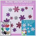 Snowflakes - bling snowflakes, paper cardstock, snow party, sparkle, glitter