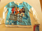 Girls Disney High School Musical Blue White Pink Layered Look Top Size 4