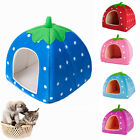 Cute Strawberry Design Pet Dog Cat House Kennel Warming Bed Different Size
