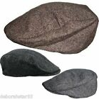 Boys Kids Quilted Herringbone Country Farmers Evacuee Flat Cap 52 54 56cm S M L