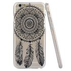Vintage Lotus Dream Catcher Flower TPU Hard Case Cover For iPhone 5 5S 6 6 Plus