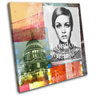 London Abstract Grunge Urban SINGLE CANVAS WALL ART Picture Print