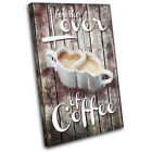 Vintage Shabby Coffee Love Food Kitchen SINGLE CANVAS WALL ART Picture Print