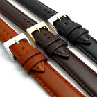 Polished Padded Nappa Leather Watch Strap 16mm 18mm 20mm 3 Colours