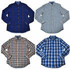 Tommy Hilfiger Buttondown Mens Linen Shirt Custom Fit Long Sleeve Plaid New