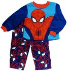 SPIDER-MAN Fleece Pajamas Sleepwear Set (Size 3T) & Slippers (Size 9-10) NWT $40