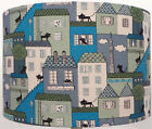 Black Cat CoCo Land Green and Blue, kitties houses, Lampshade Table, ceiling
