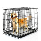 Small Medium Large Pet Dog Cat Rabbit Animal Cage Folding Crate Kennel carrier