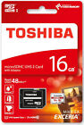 Toshiba Ultra 16GB Class 10 Micro SD SDHC Memory Card With Adapter