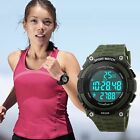 Shockproof 3D Pedometer Waterproof Women Men's Alarm Sport Quartz-Digital Watch