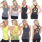 Women's Mesh Tank Top Gym Yoga sleeveless open back Activewear 5 colors (1601)