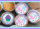 24 PERSONALISED BABY SHOWER DESIGN BS08 CUPCAKE TOPPER RICE, WAFER or ICING