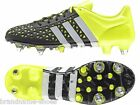 MENS ADIDAS ACE 15.1 SOFT GROUND FOOTBALL SOCCER FLURO YELLOW WHITE BLACK SHOES
