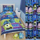 Disney Monsters Inc University Single Reversible Duvet Cover Monster / Curtain