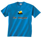 Fish Whisperer Boat bass trout catfish crappie Lake Fishing T-Shirt Clearance