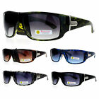 Biohazard Mens Rectangular Thick Plastic Biker Sport Sunglasses