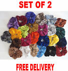 PAIR OF VELVET HAIR SCRUNCHIES ELASTIC HAIR SCRUNCHY HAIR SCRUNCHIE- Same shade
