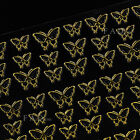 3D Gold Decal Nail Art Stickers Decoration Crown Butterfly Glitter Tips Manicure