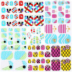 Girls Trendy Toe Nail Art Tips Decoration Stickers For Pedicure 3D Design Decals