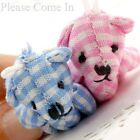 10 to 50 Blue/ Pink Gingham Teddy Bear Party Favours 40mm