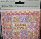 Carol Wilson Thank You Cards 10 Embossed Set Patchwork Quilt Quilts Blank