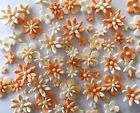 Wedding Sugar Cupcake Flowers EDIBLE BIRTHDAY CAKE TOPPERS Peach / Apricot tones