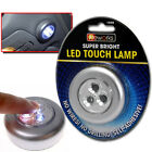 SELF ADHESIVE LED TOUCH LAMP NIGHT LIGHT PUSH ON OFF BATTERY OPERATED STICK ON
