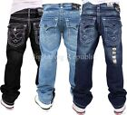 Peviani Mens Boys True Thick Rick Star Jeans Religion G Is Money Time Hip Hop