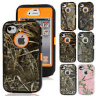 Realtree Camo ShockProof Defender Rugged Hard Case Cover For Apple iPhone 4 4S