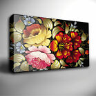FLOWERS FLORAL PATTERN GICLEE CANVAS WALL ART PRINT *Choose your size