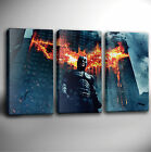 BATMAN DARK KNIGHT - TRIPLE PANEL GICLEE CANVAS ART *Choose your size
