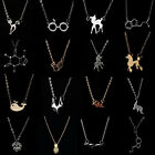 Unisex Hot Cute Deer Cat Mixed Animals Pendant Choker Necklace Clavicle Chain