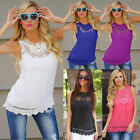 Women's Casual Loose Sleeveless Chiffon Vest Tank T Shirt Blouse Tops