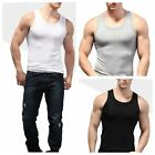 Men's Gym Sleeveless Lyca Modal Shirt Tank tops slim Tight elastic Fitness Vest