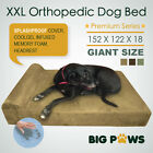 XXL Memory Foam Dog Bed Extra Large Orthopedic Cushion Bolster Waterproof