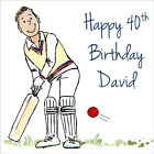 Quality Personalised Cricket BIRTHDAY CARD ~ ANY AGE & NAME Fun Boys Mens Card
