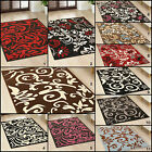QUALITY - LARGE MEDIUM SMALL BLACK RED BLUE 8MM THICK MODERN BUDGET CHEAP RUGS