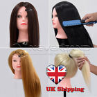 "4 Type 24"" 80% Real Human Long Hair Training Head Hairdresser Manikin Doll UK"