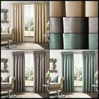 Robin Lined Curtains Modern Distressed Ready Made Pair Pencil Pleat