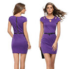 New Women's Short Sleeve Bodycon Slim Evening Party Sexy Cocktail Pencil Dress